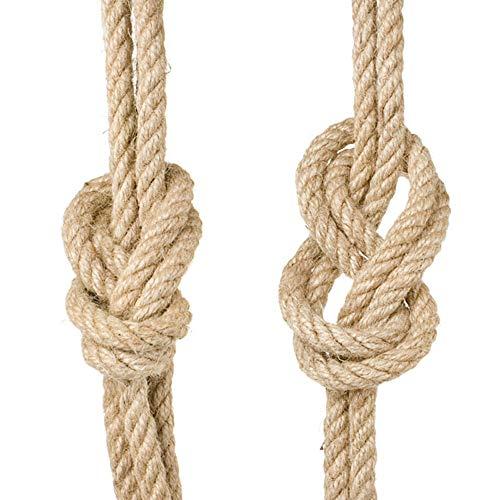 Cuerda de cáñamo de yute grueso 100% 10 m, cuerda fuerte para manualidades y manualidades, paquete de regalo de Navidad
