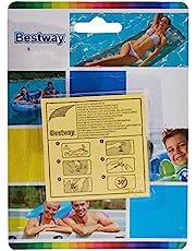 Bestway® 62068 Samoprzylepne Łaty Naprawcze, Przezroczyste, 6.5cm x 6.5cm, Zestaw 10 Sztuk
