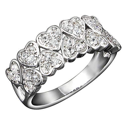 Onefeart vergulde ring voor vrouwen meisjes hart bruiloft band