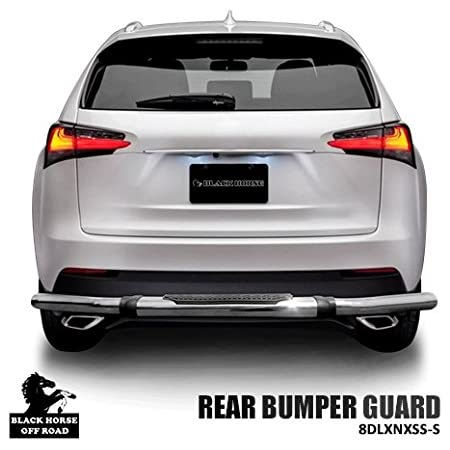 Black Horse Off Road 8D140518SS-DL Stainless Double Layer 1 piece Bumper Guard Rear Bumper Guard