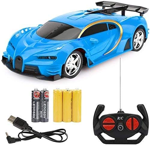wangch 1:18 Scale RC Cars Sports Car Bugatti RC Racing Car 2.4GHz 4W Steering Servo High Speed RC Racing Cars Kids Monster Trucks Halloween Best Gift (Color : Blue) (Color : Blue)