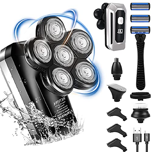 Head Shavers for Bald Men,Upgrade 6D Floating Head,Electric Razor with...