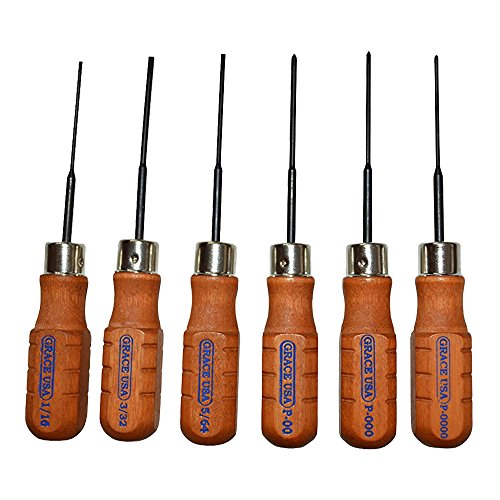 Grace USA - Micro Screwdriver Set - MS6 - Gunsmithing - Screwdrivers - 6 piece - Gunsmith Tools & Accessories, Brown/Black