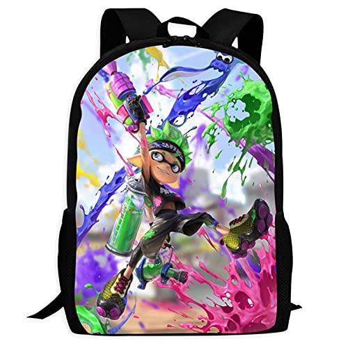Big Boy Spla-Toon Backpack,3D Printing Travel Laptop Backpack for Boys&Girls