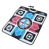 Dance Pad, Non-Slip 93 x 83cm Dancing Step Dance Mat Pad Dancer Blanket with USB for PC Support Windows 98/ 2000/ XP/ 7 OS
