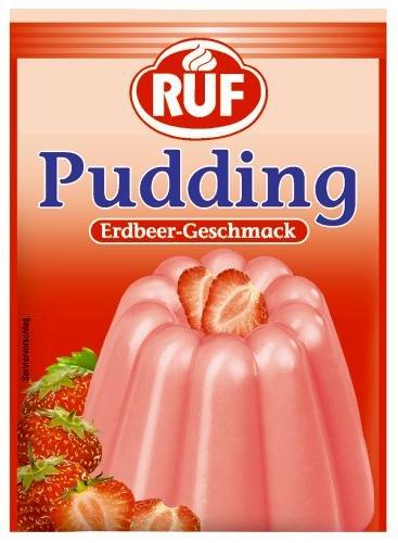 Ruf Puddingpulver Erdbeer-Geschmack, 18er Pack (18 x 3er Pack)