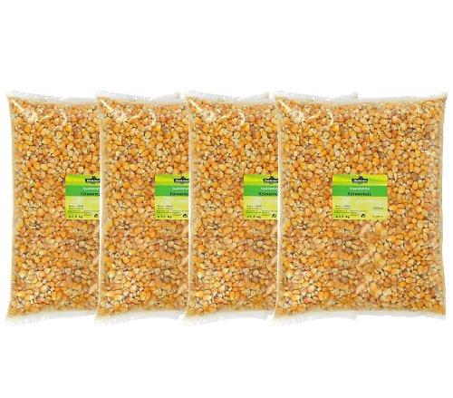 Dehner Körnermais Einzelfuttermittel, 4 x 2,5 kg, 1er Pack (1 x 10 kg)