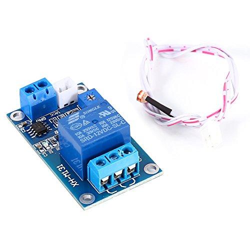 Haofy 12V Módulo de Relé del Sensor Fotorresistor, Interruptor de control de luz del coche Módulo de relé fotorresistor Sensor fotosensible TP