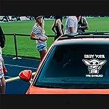 Autocollants de voiture personnage de film BÉBÉ YODA À BORD autocollant autocollant Star Wars Mandalorian voiture vinyle jedi taille 20 cm