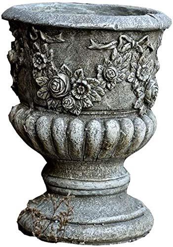 Desktop-Skulptur Römischer Blumentopf, Garten Blumentopf Dekoration Handwerk Modell Statue Blume Kreative Gartenskulptur H32cm