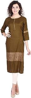 Vihaan Impex Indian Tunic Long Rayon Straight Women Dress Partywear Kurti For Women