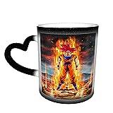Bollente Potenza Saiyan Goku Magica Divertente Art Tazza di Caffè Tazza di Ceramica L'immagine visualizzata Quando Aggiunta Calda Liquida Tazza Di Tè