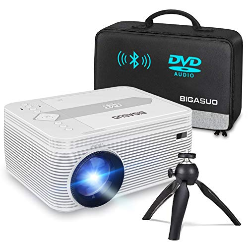 BIGASUO [2020 Upgrade] Bluetooth Full HD Projector...