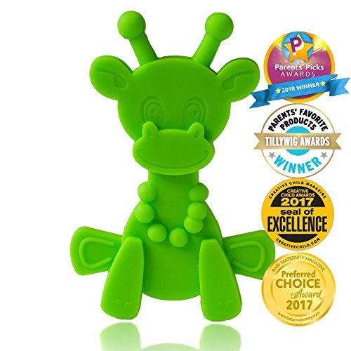 Baby Teething Toy Extraordinaire - Little Bambam Giraffe Teether Toys by...