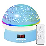 Night Light for Kids, Star Projector Kids Star Night Light Projection Lamp with 360 Degree Remote Control and Timer, Star Light Projector for Bedroom, 8 Colorful Lights-Blue