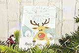 Happium - Juego de Navidad Pin la nariz en el reno X 24 narices