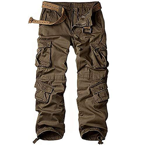 Pantalon Cargo Femme Multi-Poches Streetwear Taille Haute Hip Hop Pantalon Respirant Sport étanche Outdoor Montagne Escalade Randonnée Femme Cargo Pantalon Marron 18-48