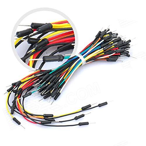 WANGJUN 65 PC Breadboard Jumper Cables Cables Soldadura Flexible de Tablero de Puente Alambres Cables de línea de Placa Pan for