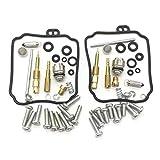 MKCUXC Quadrajet Rebuild Kit Carburetor -2 Set Motorcycle Carburetor Juntas De Reparación Kit para XVS65A V-Star 650 Classic 1998-2005 J0J Honda Foreman 500 Kit De Cambio De Aceite Podersports Parts