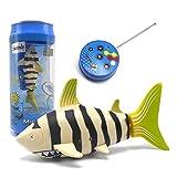Escomdp Mini RC Fish Radio Telecomando Squalo Barca Nave Giocattoli d'Acqua Elettronico Animale Domestico Animali Regali per Bambini (Giallo)