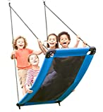 HearthSong SkyCurve Platform Tree Swing with Comfy Mat and Padded Steel Frame, 60'L x 32'W, Holds up to 400 lbs.