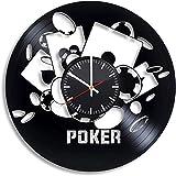 Wanggang De cumpleaños del póker Disco de Vinilo del Reloj de Pared Retro del cumpleaños de Navidad Año Nuevo Personalidad Regalo decoración de la Pared casa de diseño Creativo