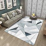 alfombra silla ruedas alfombras niños Alfombra de sala de estar gris azul antideslizante protección del medio ambiente a prueba de humedad y resistente a la suciedad decoración casa 100X160CM 3ft 3.4'