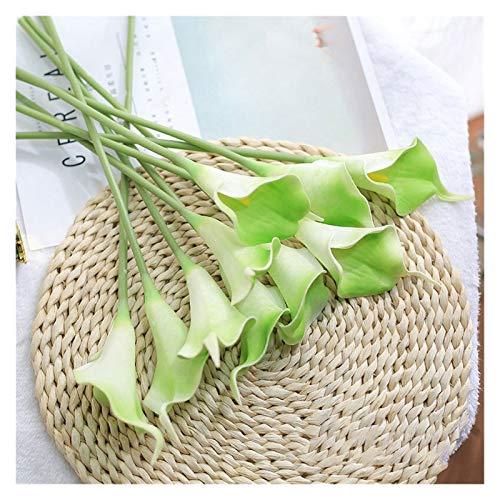 LUCHAO Künstliche Blume Calla-Lilien Bündel gefälschte Blumendekoration künstliche Blumen-Bouquet Tisch Herbst nach Hause Hochzeitsdekoration (Farbe : Grün)