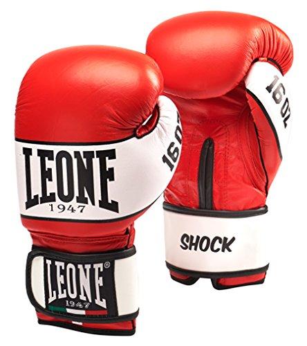 0 Leone 1947 Shock Boxhandschuhe, Rot, 16 Uz