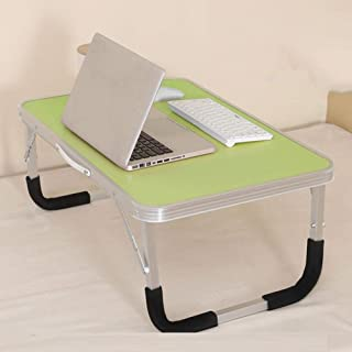 Table Portable Standing Desk Laptop Computer Stands Aluminum Multifunction Easy To Carry Collapsible Read A Book Creative ...