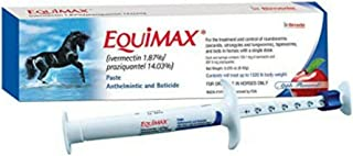 Equimax Apple Flavored Ivermectin & Praziquantel Wormer Paste for Horses 6.42g
