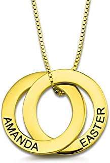 gold russian ring necklace