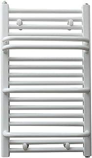 SYN-GUGAI Toallero Eléctrico De Pared (tamaño 750 X 450 Mm), Secador De Toallas Blancas, Radiador De Baño Acero Bajo En Carbono, 400W, Estante De Baño