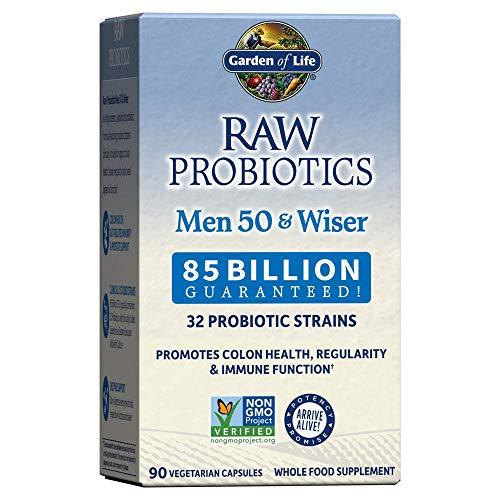 Garden Of Life Raw Probióticos para Hombres 50 y Wiser 90 Cápsulas 180 g