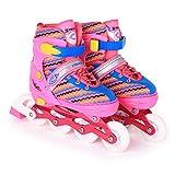 YSCYLY Patins à roulettes,Chaussures de Patinage de Vitesse Full Flash Pulley,pour Enfants Et Adolescents