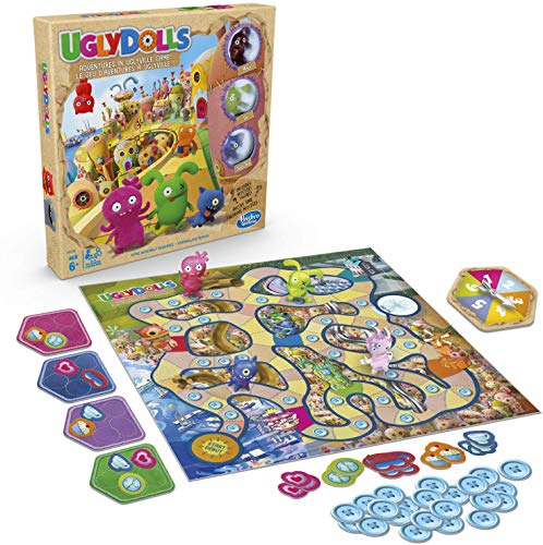 Hasbro Gaming Uglydolls: Adventures in Uglyville Board Game for Kids Ages 6 & Up