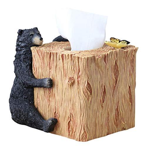 ChHalS Welkom thuis decoraties Roll papierlade papier handdoek doos roll papier creatieve tafel woonkamer salontafel toilet badkamer schattige Europese cartoon accessoires