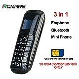 LONG CZ V2 Plus Petit Téléphone Bluetooth 3 en 1 Débloqué Micro SIM Téléphone +...