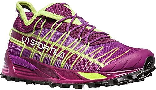 La Sportiva Women's Mutant Backcountry Trail Running Shoe, Plum/AppleGreen, 39