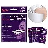 Copriwater Usa e Getta Carta, HICOO Flushable Dimensione Universale Senza BPA Copri Toilette Usa e Getta Pacco per Viaggi Bagni Pubblici Maternità Adulti Bambini 40 Pezzi