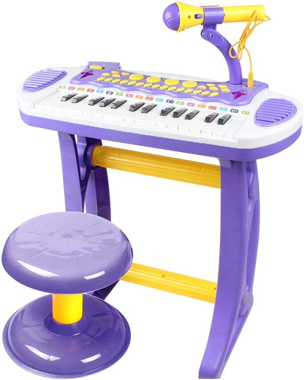 artículos de promoción MKJYDM Educación temprana temprana temprana música Juguete Niño niña 1-3-6 años Teclado Niños Piano micrófono Piano para Niños Piano (Color   púrpura)  entrega rápida