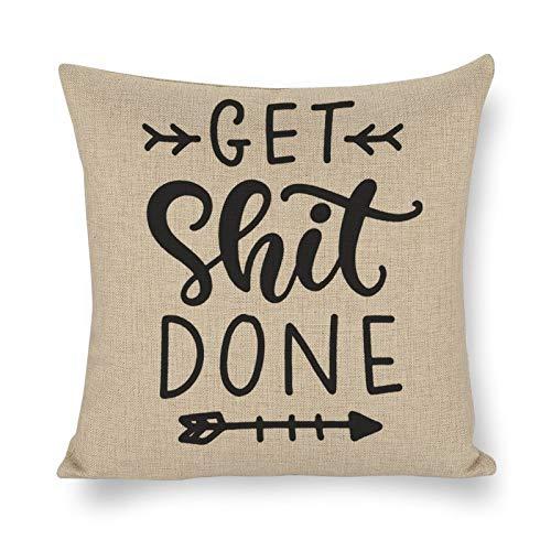 76DinahJordan Fundas de cojín con frase motivacional, 50 x 50 cm, estilo bohemio, para sofá, impresas, para jardín, hogar, cama, regalos