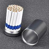 SXFYGYQ Estuche de Cigarrillos Latas trituradas Selladas portátiles de Gran Capacidad para Exteriores Pueden Contener 30 Paquetes,A