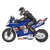 MAFANG® RC Motocicleta, 1: 6 RC Moto Toy Niños Control Remoto Drift Moto Toy 2.4Ghz Racing Motorbike Toys con Giros De 360 ° Y Flip para Niños Y Adultos De Diferentes Edades,Azul