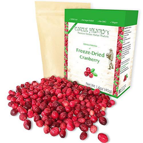 Freeze Dried Cranberry: Delicious Fruits 1.6oz (45g) Large Bulk...