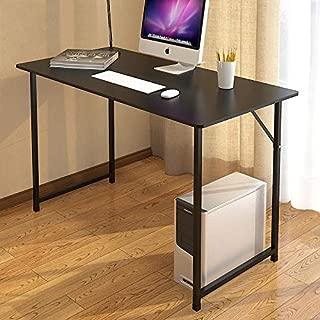 Night N Dawn Computer Desk – Black Work Table for Office – Wood & Metal Modern Table – 100 x 60 x 73.2-cm Desktop for Home Office – Stylish & Modern Metal Studio Table for School & Work
