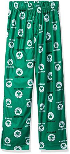 NBA Boston Celtics Youth Boys 8-20 Sleepwear All Over Print Pants, Medium/(10-12), Kelly