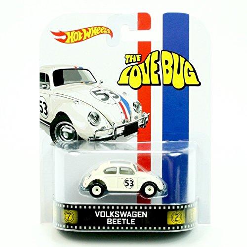 Hot Wheels VOLKSWAGEN BEETLE HERBIE / THE LOVE BUG 2013 Retro Series Die Cast Vehicle