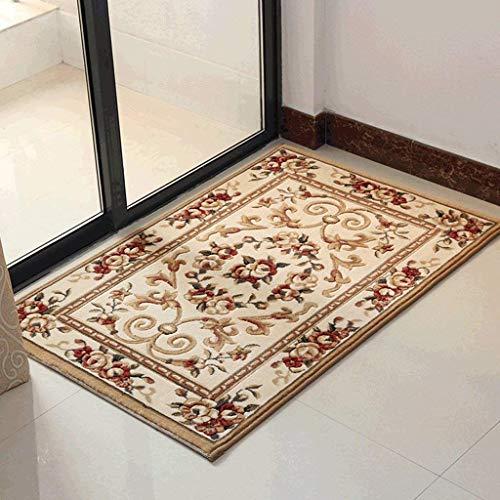 AWWCP Continental Carpet, Mat Fußmatte, Schlafzimmer Wohnzimmer Fußbett Fußkissen, Staubkissen an der Tür,80 * 120 cm,B
