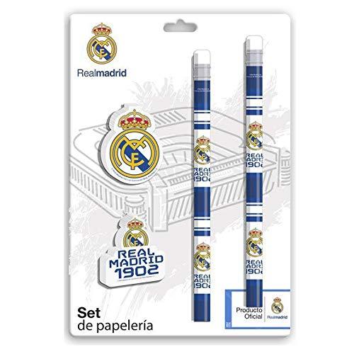 Real Madrid Schreibwaren-Set, Schreibtisch, Bürozubehör, Mehrfarbig (Mehrfarbig)
